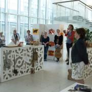 Ruby de Boer opent de expositie Temperament in Escamp van Dario Fo