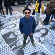 JR bij Inside Out project op Times Square